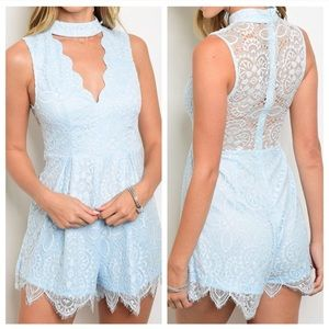 Coming Soon! Blue Lace Romper